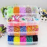Towinle Loom Bänder Kit mit 15000 Regenbogen Loom Bands in 3 Schichten Aufbewahrungsbox mit...