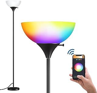 addlon - چراغ طبقه ، لامپ ایستاده بلند ، لامپ قطب با لامپ های هوشمند RGB برای اتاق نشیمن ، دفتر ، اتاق خواب ، لامپ های طبقه Torchiere Decro