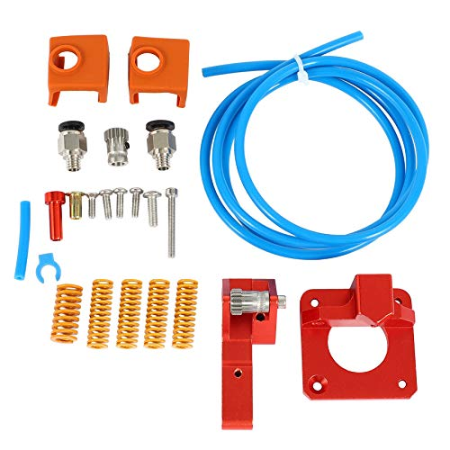 Jaimenalin 3D Printer Accessories PTFE Spring Double Gear Right Hand Double Extruder Kit for Creality CR-10S PRO Ender-3