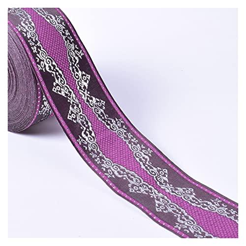 HLWJ Cinta bordada de encaje de 1 m, estilo vintage, bohemio, accesorios para ropa, bordados, motivos de tela, apliques, lentejuelas, flores, decoración de boda, encaje de color (color 13)