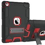 BENTOBEN Funda iPad 2/3/4 Heavy Duty 3 en 1 Carcasa Case Cover Función de Soporte Plegable TPU+PC Duro y Anti-arañazos Funda para Apple iPad 2/ iPad 3/ 4ª Generación, Negro y Rojo