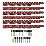 MagiDeal Juego de lijadoras de tambor de 458 piezas, incluyendo 432 piezas de mancuernas de lijado de uñas, 24 piezas de mandriles de tambor, 2 piezas de