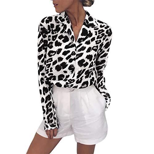 Ropa Mujer Primavera 2019 Fossen Blusa Mujer Estampado De Leopardo Bot