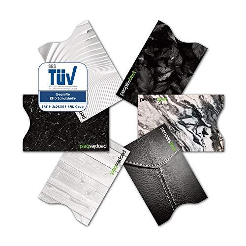 TÜV geprüfte RFID & NFC Kreditkarten-Schutzhülle (6 Stück) super dünn & robust für 100{c945d24059299b4a83f4dab3e5c446e68d243326b2120c19235dba6065adda46} Datenschutz - Motive (Black & White)