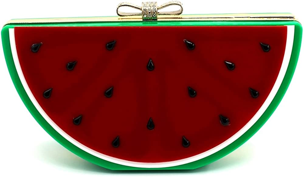 Kingluck Acrylic Watermelon Women Casual Pu Magnetic Evening Bag