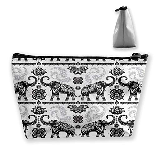 Asian Elephants Cosmetic Makeup Bag/Pouch/Clutch Travel Case Organizer Storage Bag for Women¡¯s Accessories Toiletry Beauty,Skincare Travel Accessory