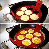 Shinely fantastischer Pfannkuchenmacher aus Silikon mit 7 Öffnungen, auch als Eier-Ring für...