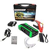Arrancador portátil de 12 voltios para automóvil, 28000 mAh, refuerzo automático de batería de iones de litio con carga rápida, puerto tipo C y LED, energía para el hogar, emergencia para el automóvil