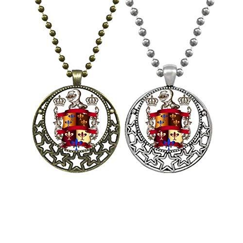 Beauty Gift Emblema de armadura medievais Cavaleiros da Europa Lovers Colares Pingente retrô Lua Estrelas Joias