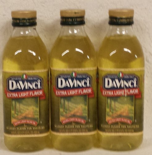 DaVinci Extra Light Olive Oil - 12 Bottles (17 oz ea)