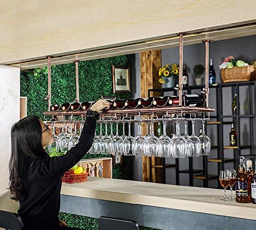 Weinregale, Weinregal Industrieweinregale Einstellbare Höhe des Kopf gestellt Hängen Weingläser Trocknen Halter-Zahnstange hält jede Art von Trinkgläsern Gläser Weingläsern und Flöten-Rack, 100cm (39.