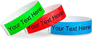 Custom 3/4 inch Tyvek Wristbands for Events - Text Personalized (Paper-Like) Bracelets