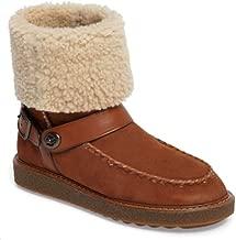 Coach Womens Moto shrl Boot Closed Toe Ankle Fashion, Saddle/Natural, Size 8.0