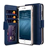 Apple Iphone 7 Melkco財布ブックIDプレミアムレザー手作りグッドセキュリティで保護されたスロットタイププレミアムレザーケース、プレミアムフィール・ダークブルーLC
