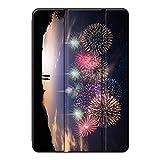 Sepikey iPad 4/iPad 3/iPad 2/iPad カバー,PUレザー 耐久性 全面保護型 指紋防止 三つ折タイプ 三つ折タイプ スマートカバー iPad 4/iPad 3/iPad 2/iPad Case-花火2