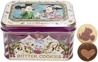 ミッキーマウス ミニーマウス 缶入りバタークッキー ローズ柄 お菓子 【東京ディズニーシー限定】