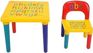 Juego de Mesa y Sillas Infantiles, Diseño del Alfabeto para Niños, para Dormitorio, Sala de Juegos, Estudio y Actividades Infantiles