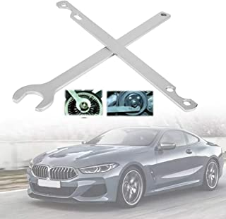 Qiilu 32mm Fan Clutch Nut Wrench Water Pump Holder Removal Tool Kit Fit for BMW