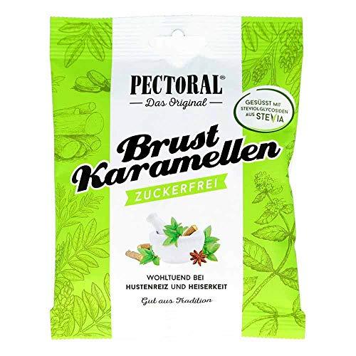 Original PECTORAL Brust Karamellen klassisch zuckerfrei, 60 g Bonbons