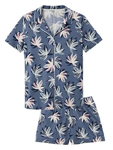 CALIDA Cosy Flowers Kurz-Pyjama, geknöpft Damen