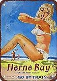 Froy 1932 British Rail Pinup Herne Bay Wand Blechschild