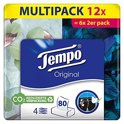 Tempo Original Taschentücher Duo-Box, Mega Pack, 6 Packungen (6 x 2 Boxen x 80 Tücher)