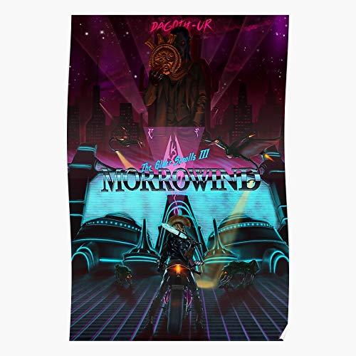 chicwish Cyberpunk Remix Dagoth TES Ur Elder Scrolls Morrowind Nerevar Nerevarine Das eindrucksvollste und stilvollste Poster für Innendekoration, das derzeit erhältlich ist