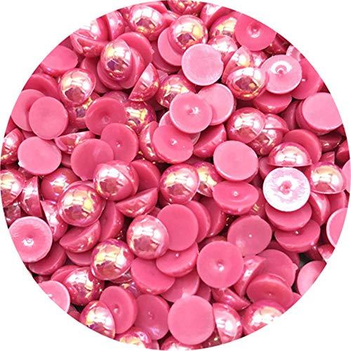 Cuentas de perlas semicirculares de 4/6/8/10 mm, cuentas de libro de recuerdos de espalda plana para hacer joyas, perlas de perlas, 12,4 mm, 400 piezas
