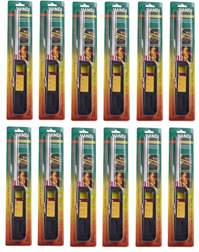 12pk BBQ Grill Lighter Refillable Butane Gas Candle Fireplace Kitchen Stove Long