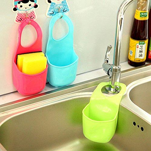 Storage Baskets - Honana Hn-L1 Kitchen Bathroom Hang Basket Wall Pocket Storage Bag Filter Water Creative Rack Hanger - Cling Hoop Drop Fall Basketful Bury Bent Field Goal - 1PCs