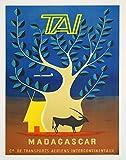 Madagaskar Reise-Poster Madagaskar Poster Madagaskar Dekor