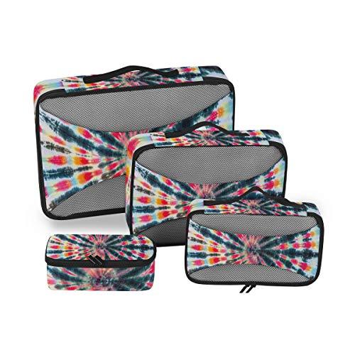 BIGJOKE Reise-Packwürfel, 4 Set, Bindefarbe, leicht, Reisegepäckzubehör, Reisetaschen, Organizer, Aufbewahrungstasche
