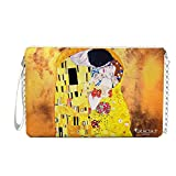 CASEONE Gracia P. Pochette da Donna in Pelle o Ecopelle Klimt Il Bacio (Pelle)