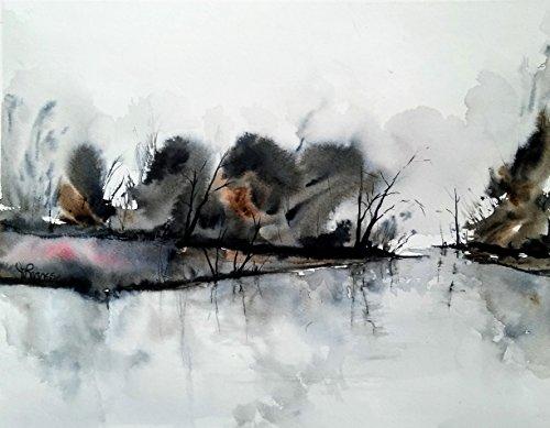 ORIGINAL painting watercolor painting WATERCOLOR Painting,watercolor landscape, Pinetreeart, WATERCOLOR, landscape original, painting