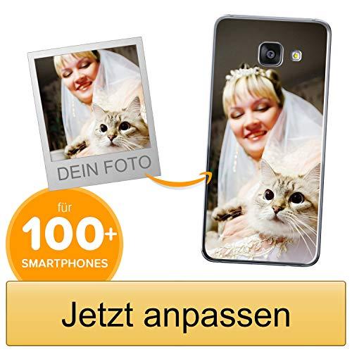 Coverpersonalizzate.it Handyhülle für Samsung Galaxy A3 2016 mit Foto-, Bildern- oder Text selbst gestalten- Die Handyhülle ist aus weichem transparentem TPU-Silikon-Gel Material