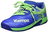 Kempa Wing 2.0 Junior, Chaussures de Handball Garçon Mixte Enfant, Vert (Azur/Vert Printemps 01), 33 EU