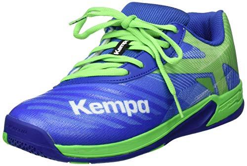 Kempa Wing 2.0 JUNIOR Handballschuhe, Grün (Azur/Vert Printemps 01), 37 EU