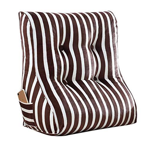LF- Driehoek pad rugleuning pad fluwelen kussen slaapbank bureaustoel rust kussen ondersteuning (Color : Brown, Size : M)