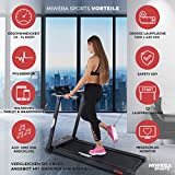 Miweba Sports elektrisches Laufband HT500 – Klappbar – 0,75 Ps – 14 Km/h – 12 Laufprogramme – Tablet Halterung – Große Lauffläche - 2