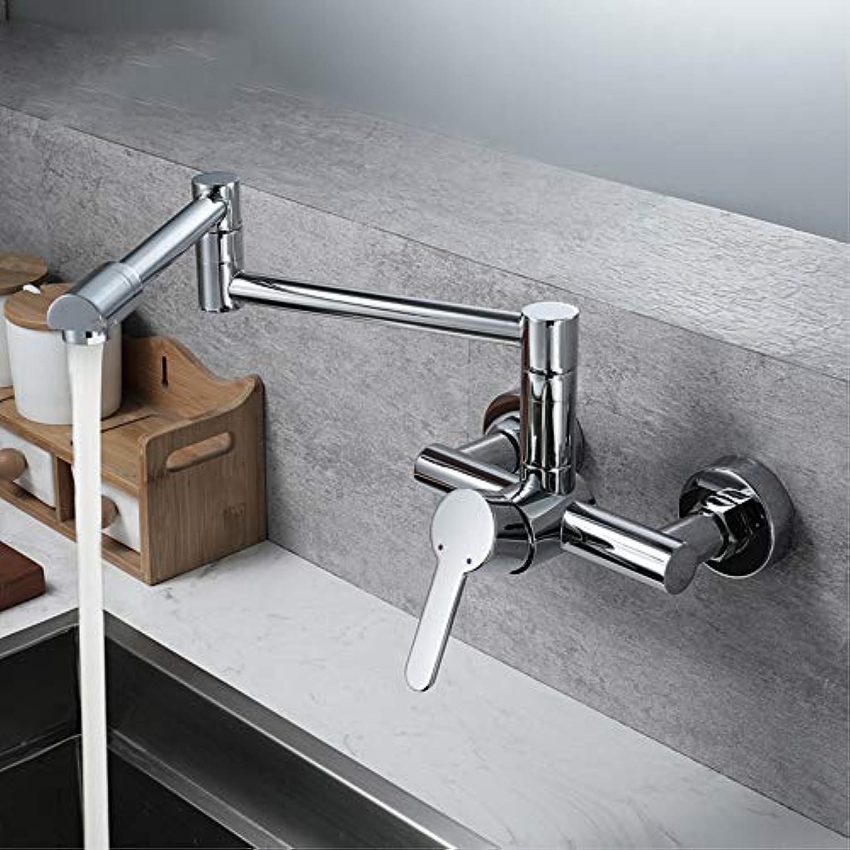 IFELGUD 360 Grad Drehen von heiem und kaltem Wasser Becken Wasserhahn an der Wand Falten Wasserhahn Wasserhahn Doppelt Griff