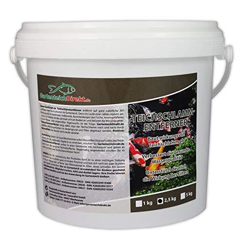 GartenteichDirekt Teichschlammentferner (GRATIS Lieferung in DE - Baut Teichschlamm und Mulm im Gartenteich ab, verbessert die Wasserqualität, unterstützt die Wirkung des Filters), Größe:2.5 kg