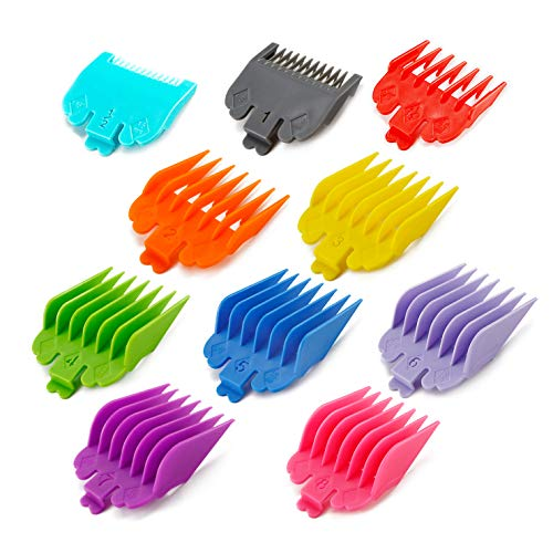 Professional Hair Clipper Guards Guide Combs,Hair Clipper Cutting Guides/Combs -From 1/16inch to 1inch, Compatible with Most Wahl Clippers