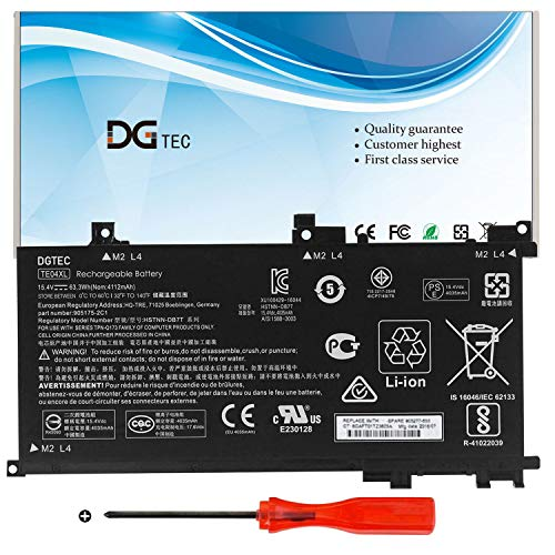 DGTEC New TE04XL Laptop Battery Replacement for HP Pavilion 15-BC 15-BC200NB 15-BC251NR 15-BC260NZ Omen 15-AX200 15-AX200NA 15-AX200NX HSTNN-UB7A HSTNN-DB7T 905175-271 905175-2C1 (15.4V 63.3Wh)