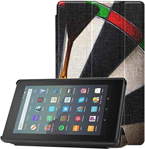 Funda para Kindle Fire 7 Precisión con Tres Objetivos de éxito Fundas y Fundas para Kindle Fire 7 para Tableta Fire 7 (novena generación, versión 2019) con Reposo/activación automátic