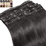 Extension a Clip Cheveux Naturel MAXI VOLUME Rajout Cheveux Humain 8 Bandes - Double...