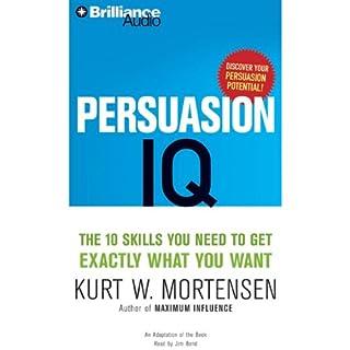 Persuasion IQ audiobook cover art