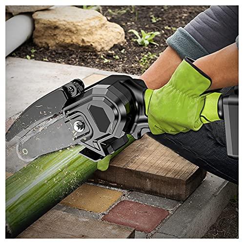HYDT Mini motosierra con 2 baterías, inalámbrico eléctrico motosierra Kit portátil portátil para patio rama corte de madera 1