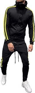 2019 Men's Jogging Tracksuit Sportswear Casual Joggers Set Hoodie Sweatshirt+Jogger Sweatpants by-Leegor