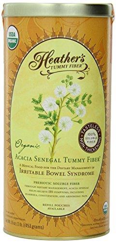 Heather's Tummy Fiber Organic Acacia Senegal for IBS, 16 Ounce Canister