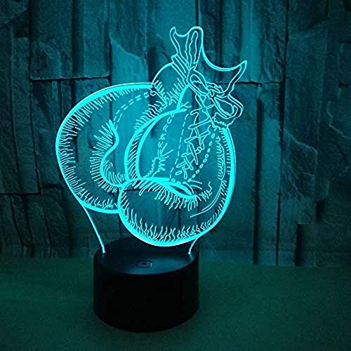 Anime D Lampe Boxhandschuhe 3D Licht Touch Fernbedienung 3D Nachtsicht Nachtlicht Nachtlicht Nachtlichter Anime D Figur